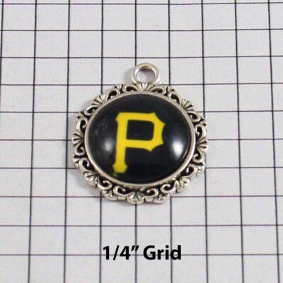 Pittsburgh Pirates Charm Wedding Garter / MLB / Baseball - Charm 539 / Wedding Garters / Bridal Garter / Prom Garter / Linda Joyce Couture