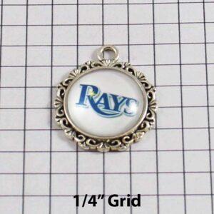 Tampa Bay Devil Rays Wedding Garter MLB - Charm-543 / Wedding Garters / Bridal Garter / Prom Garter / Linda Joyce Couture