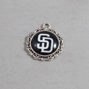 San Diego Padres Wedding Garter / MLB / Baseball - Charm-544 / Wedding Garters / Bridal Garter / Prom Garter / Linda Joyce Couture