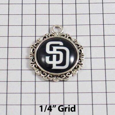 San Diego Padres Wedding Garter / MLB / Baseball - Charm 544 / Wedding Garters / Bridal Garter / Prom Garter / Linda Joyce Couture