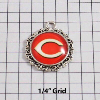 Chicago Bears Wedding Garter / NFL / Football - Charm 548 / Wedding Garters / Bridal Garter / Prom Garter / Linda Joyce Couture