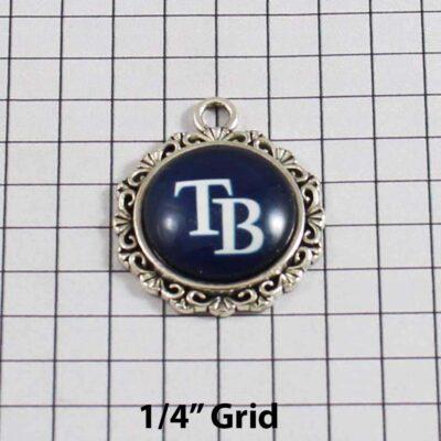 Tampa Bay Devil Rays Wedding Garter / MLB / Baseball - Charm 549 / Wedding Garters / Bridal Garter / Prom Garter / Linda Joyce Couture