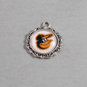 Baltimore Orioles Wedding Garter / MLB / Baseball - Charm-551 / Wedding Garters / Bridal Garter / Prom Garter / Linda Joyce Couture