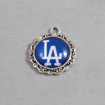 Los Angeles Dodgers Wedding Garter / MLB / Baseball - Charm 553 / Wedding Garters / Bridal Garter / Prom Garter / Linda Joyce Couture