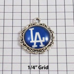 Los Angeles Dodgers Wedding Garter / MLB / Baseball - Charm-553 / Wedding Garters / Bridal Garter / Prom Garter / Linda Joyce Couture