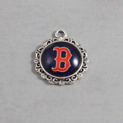 Boston Red Sox Wedding Garter / MLB / Baseball - Charm 554 / Wedding Garters / Bridal Garter / Prom Garter / Linda Joyce Couture