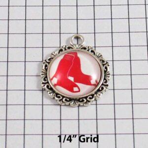 Boston Red Sox Wedding Garter / MLB / Baseball - Charm-555 / Wedding Garters / Bridal Garter / Prom Garter / Linda Joyce Couture