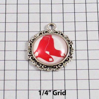 Boston Red Sox Wedding Garter / MLB / Baseball - Charm 555 / Wedding Garters / Bridal Garter / Prom Garter / Linda Joyce Couture