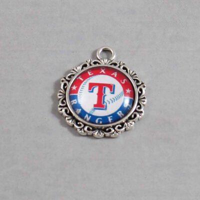 Texas Rangers Wedding Garter / MLB / Baseball - Charm 556 / Wedding Garters / Bridal Garter / Prom Garter / Linda Joyce Couture
