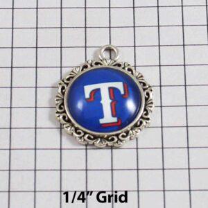 Texas Rangers Wedding Garter / MLB / Baseball - Charm-557 / Wedding Garters / Bridal Garter / Prom Garter / Linda Joyce Couture
