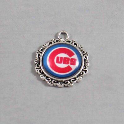 Chicago Cubs Wedding Garter / MLB / Baseball - Charm 561 / Wedding Garters / Bridal Garter / Prom Garter / Linda Joyce Couture