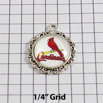 St Louis Cardinals Wedding Garter MLB - Charm 563 / Wedding Garters / Bridal Garter / Prom Garter / Linda Joyce Couture