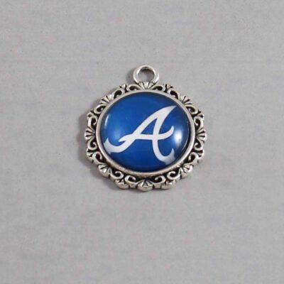 Atlanta Braves Wedding Garter / MLB / Baseball - Charm 565 / Wedding Garters / Bridal Garter / Prom Garter / Linda Joyce Couture