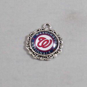 Washington Nationals Wedding Garter / MLB / Baseball - Charm-569 / Wedding Garters / Bridal Garter / Prom Garter / Linda Joyce Couture