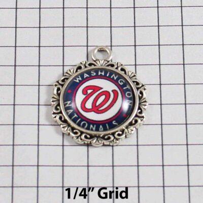 Washington Nationals Wedding Garter / MLB / Baseball - Charm 569 / Wedding Garters / Bridal Garter / Prom Garter / Linda Joyce Couture