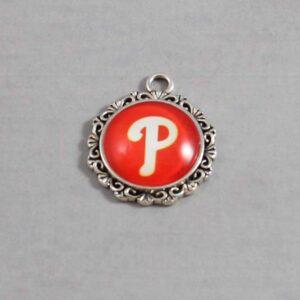 Philadelphia Phillies Wedding Garter / MLB / Baseball - Charm-571 / Wedding Garters / Bridal Garter / Prom Garter / Linda Joyce Couture