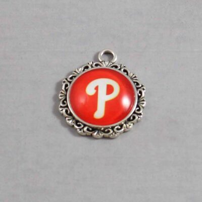 Philadelphia Phillies Wedding Garter / MLB / Baseball - Charm 571 / Wedding Garters / Bridal Garter / Prom Garter / Linda Joyce Couture