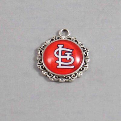 St Louis Cardinals Wedding Garter / MLB / Baseball - Charm 573 / Wedding Garters / Bridal Garter / Prom Garter / Linda Joyce Couture