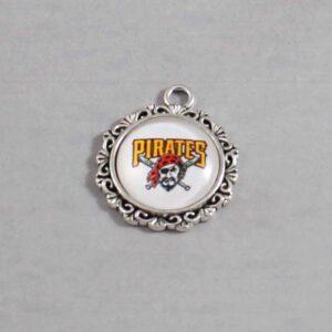 Pittsburgh Pirates Wedding Garter / MLB / Baseball - Charm-574 / Wedding Garters / Bridal Garter / Prom Garter / Linda Joyce Couture