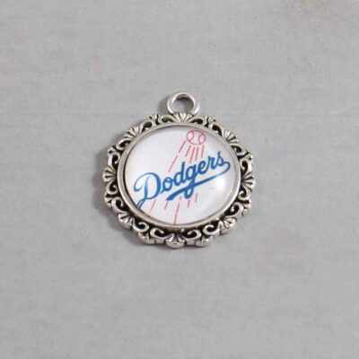 Los Angeles Dodgers Wedding Garter / MLB / Baseball - Charm 576 / Wedding Garters / Bridal Garter / Prom Garter / Linda Joyce Couture