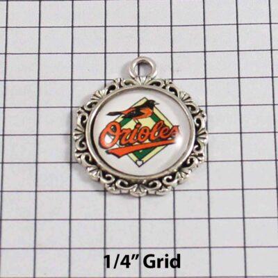 Baltimore Orioles Wedding Garter / MLB / Baseball - Charm 577 / Wedding Garters / Bridal Garter / Prom Garter / Linda Joyce Couture