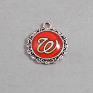 Washington Nationals Wedding Garter MLB - Charm-579 / Wedding Garters / Bridal Garter / Prom Garter / Linda Joyce Couture