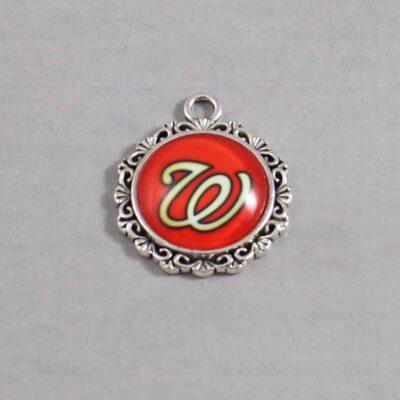 Washington Nationals Wedding Garter MLB - Charm 579 / Wedding Garters / Bridal Garter / Prom Garter / Linda Joyce Couture