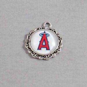 Anaheim Angels Wedding Garter / MLB / Baseball - Charm-582 / Wedding Garters / Bridal Garter / Prom Garter / Linda Joyce Couture