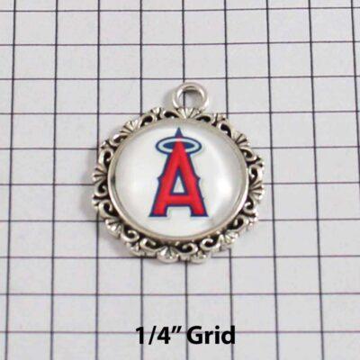 Anaheim Angels Wedding Garter / MLB / Baseball - Charm 582 / Wedding Garters / Bridal Garter / Prom Garter / Linda Joyce Couture / Wedding Garters / Bridal Garter / Prom Garter / Linda Joyce Couture