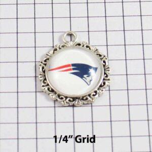 New England Patriots Wedding Garter / NFL / Football - Charm-617 / Wedding Garters / Bridal Garter / Prom Garter / Linda Joyce Couture