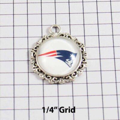 New England Patriots Wedding Garter / NFL / Football - Charm 617 / Wedding Garters / Bridal Garter / Prom Garter / Linda Joyce Couture