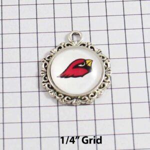 Arizona Cardinals Wedding Garter / NFL / Football - Charm-618 / Wedding Garters / Bridal Garter / Prom Garter / Linda Joyce Couture
