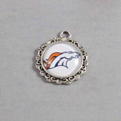 Denver Broncos Wedding Garter / NFL / Football - Charm 622 / Wedding Garters / Bridal Garter / Prom Garter / Linda Joyce Couture