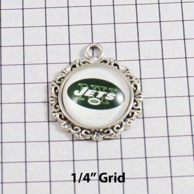 New York Jets Wedding Garter / NFL / Football - Charm 626 / Wedding Garters / Bridal Garter / Prom Garter / Linda Joyce Couture