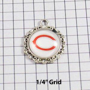 Chicago Bears Wedding Garter / NFL / Football - Charm-629 / Wedding Garters / Bridal Garter / Prom Garter / Linda Joyce Couture