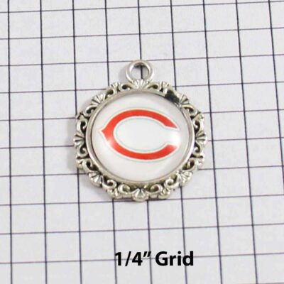 Chicago Bears Wedding Garter / NFL / Football - Charm 629 / Wedding Garters / Bridal Garter / Prom Garter / Linda Joyce Couture