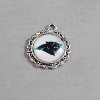 Carolina Panthers Wedding Garter / NFL / Football - Charm 635 / Wedding Garters / Bridal Garter / Prom Garter / Linda Joyce Couture