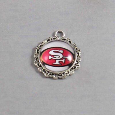 San Francisco 49ers Wedding Garter / NFL / Football - Charm 636 / Wedding Garters / Bridal Garter / Prom Garter / Linda Joyce Couture