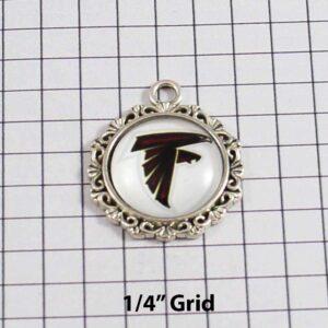 Atlanta Falcons Wedding Garter / NFL / Football - Charm-637 / Wedding Garters / Bridal Garter / Prom Garter / Linda Joyce Couture
