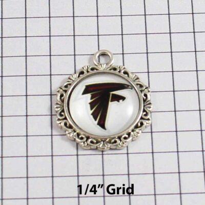 Atlanta Falcons Wedding Garter / NFL / Football - Charm 637 / Wedding Garters / Bridal Garter / Prom Garter / Linda Joyce Couture