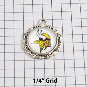 Minnesota Vikings Wedding Garter / NFL / Football - Charm-638 / Wedding Garters / Bridal Garter / Prom Garter / Linda Joyce Couture