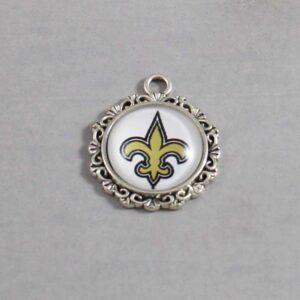 New Orleans Saints Wedding Garter / NFL / Football - Charm-639 / Wedding Garters / Bridal Garter / Prom Garter / Linda Joyce Couture