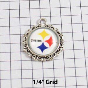Pittsburgh Steelers Wedding Garter / NFL / Football - Charm-642 / Wedding Garters / Bridal Garter / Prom Garter / Linda Joyce Couture