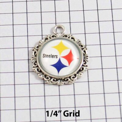 Pittsburgh Steelers Wedding Garter / NFL / Football - Charm 642 / Wedding Garters / Bridal Garter / Prom Garter / Linda Joyce Couture