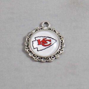 Kansas City Chiefs Wedding Garter / NFL / Football - Charm-643 / Wedding Garters / Bridal Garter / Prom Garter / Linda Joyce Couture