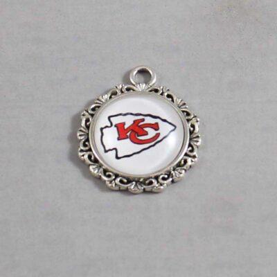 Kansas City Chiefs Wedding Garter / NFL / Football - Charm 643 / Wedding Garters / Bridal Garter / Prom Garter / Linda Joyce Couture