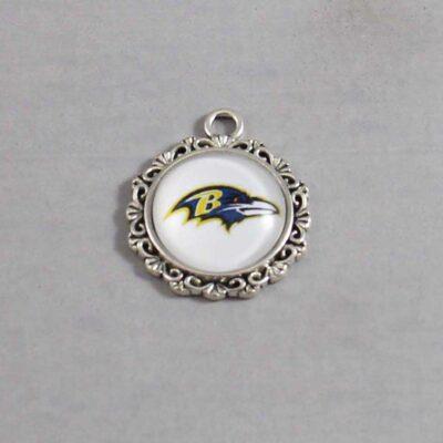 Baltimore Ravens Wedding Garter / NFL / Football - Charm 644 / Wedding Garters / Bridal Garter / Prom Garter / Linda Joyce Couture