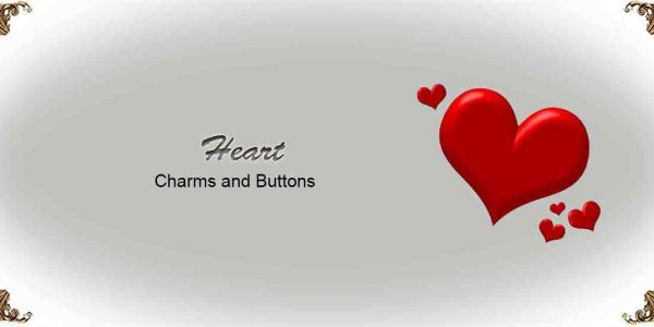 Heart Charms and Buttons