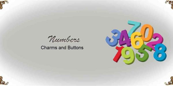 Number Charms and Buttons