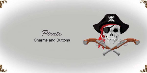 Pirate Charms and Buttons
